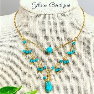 Doble handmade Necklace Stainless Steel Turquoise